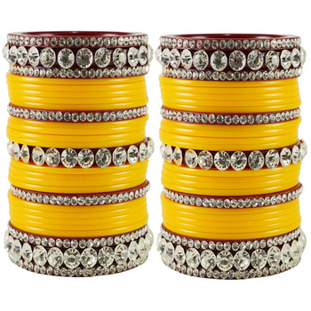 Yellow Crystal Bangles And Bracelets