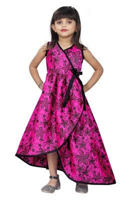 Girls Pink Designer Dress
