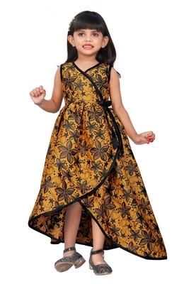 Kids Yellow Designer Dress