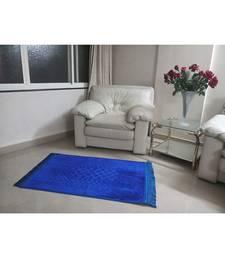 Blue Velvet Anti Skid  Muslim Prayer Mat