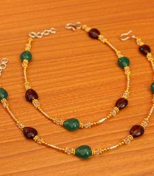 Multicolor Onyx Anklets