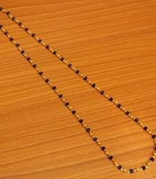 Black & Gold Beads Single Line Necklace