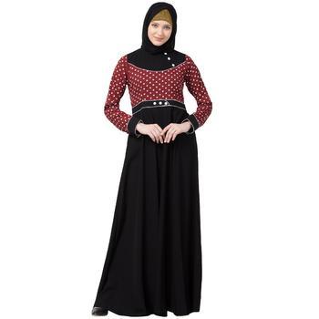 Designer Polka Dotted Umbrella Abaya