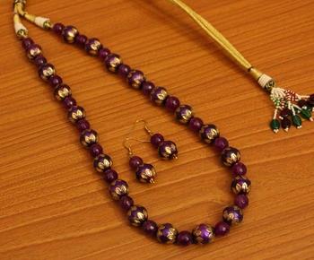 Purple Onyx Necklace-Sets