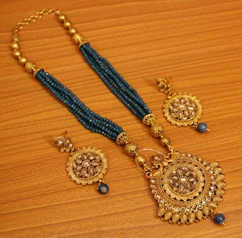 Gold Zircon Necklace-Sets