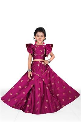 Kids Purple Designer Lehenga Choli
