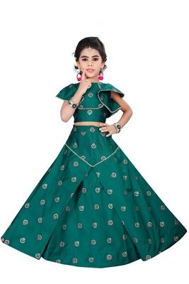 Girls Green Designer Lehenga Choli