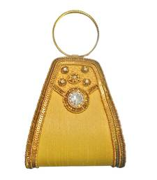 Buy Double Bangle Raw Silk (Gold) clutch online