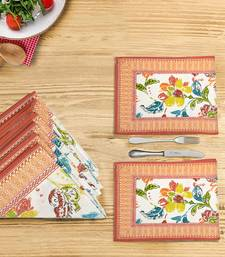Portia Placemat Napkin Set (6 Mats + 6 Napkins), Multicolor