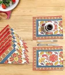 Portia Placemat Napkin Set (6 Mats + 6 Napkins), Multicolor