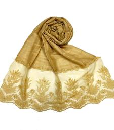 Yellow  Square Shaped Cotton Stole