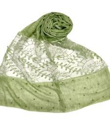 Green  Diamond And Pearl Studed Cotton Hijab