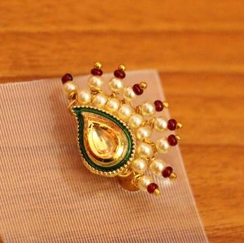 White Pearl Nose Ring Sanvi Jewels Pvt Ltd 3257785