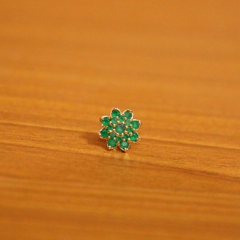 Green Onyx Nose-Ring