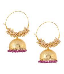 Golden Jhumkay Earrings