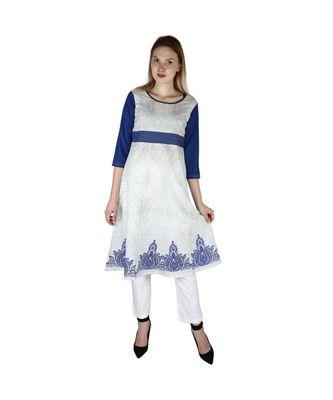 white plain rayon kurti
