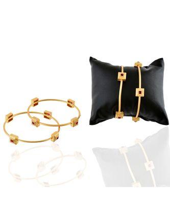 golden maroon smart look designer delicate bangle