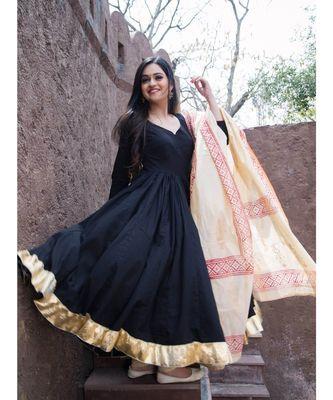 Black Kanchali Anarkali Suit (set of 2)