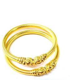 22 carrrat gold plated elephant bangles