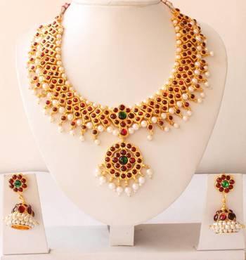 Beautiful Temple Necklace Set