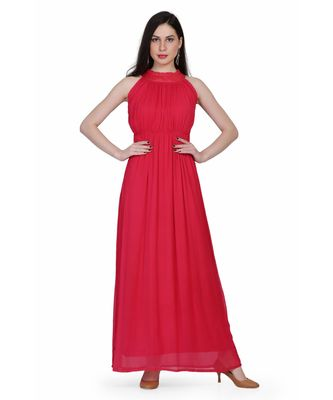 Women's Drape Chiffon Party/ Evening/ Dress in Red Cherry