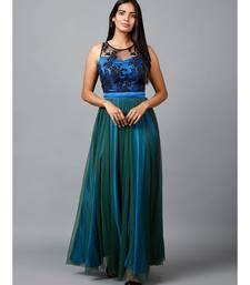 Blue Green Net Gown