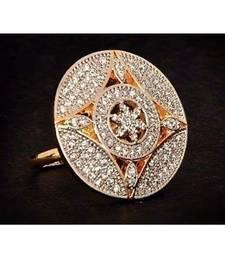 Geometric Diamond Cocktail Ring