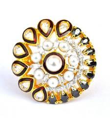 Kundan Pearl Cocktail Ring