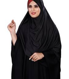 Justkartit Women Chiffon Lycra Plain Tie Knot Turban Style Instant Hijab Scarf