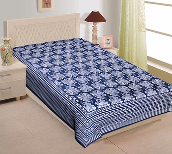 Texstylers Pure Cotton Printed Single Bedsheet