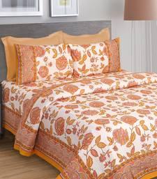 Yellow Jaipuri Cotton Double Bedsheet
