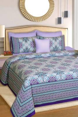 Multicolor Jaipuri King Size Cotton Bedsheet
