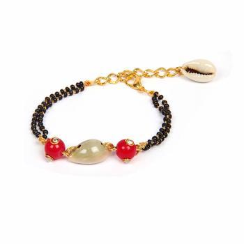 Cowrie Beach Seashell Handmade Bracelet for Women and Girls