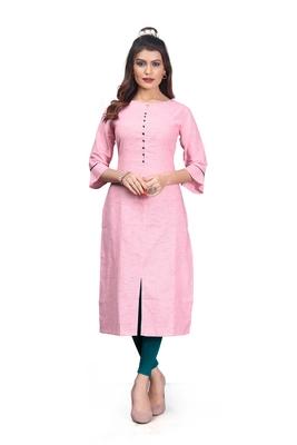 Khadi Cotton kurti for Women Pink