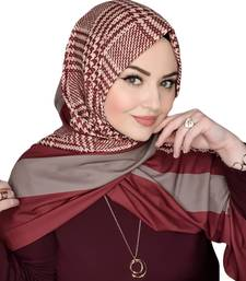Justkartit Occasional Wear BSY Korean Material Printed Hijab Scarves