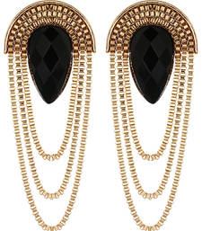 Party Girl Black Earrings