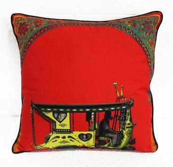 Floral Gateway Cushion Cover