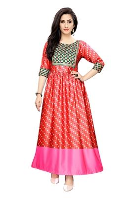 Women's Festive Wear Heavy Satin Gown
