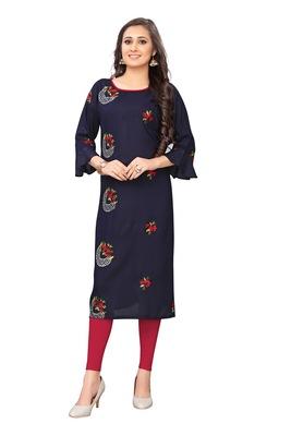 Women's Festive Wear Heavy Rayon Kurti