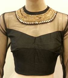 Buy Black Net and Dupion Silk Blouse bridal-blouse online