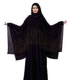 Justkartit Women Casual Wear Korean Slub Diamond Work Long Abaya Burqa
