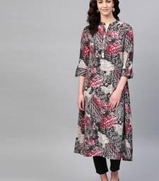 Pinksky Grey woven cotton kurtas-and-kurtis