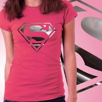 Superhero Girls Foil T-shirt at Offer, Womens Silver Special Effect Tshirt