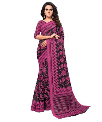 black Woven Brasso saree with blouse