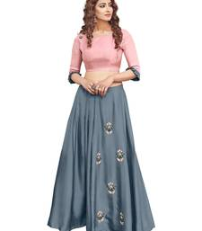 Multicolor plain satin ethnic-kurtis