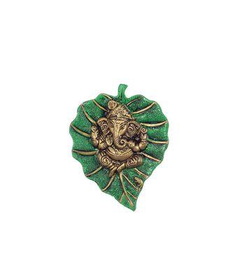 Lord Ganesha on Green Leaf