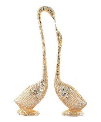 Pair Of Kissing Duck Showpiece