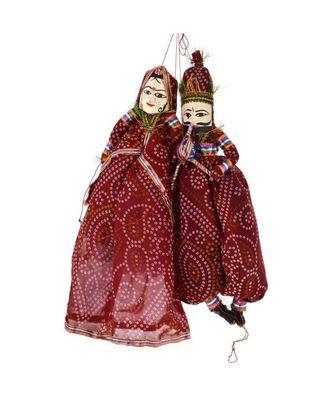 Rajasthani Famous Handmade Puppets (Multicolour)
