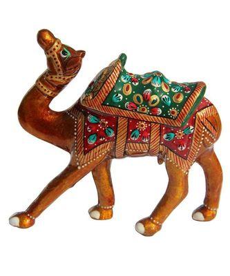 Rajasthani Aluminium Metal Enamelled Camel Showpiece