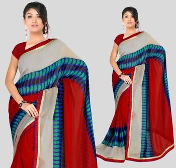 Elegant Indian Designer Sari Amaze189 A